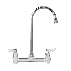 Fisher - 13307 - 8-inch Backsplash Mounted Faucet - 12-inch Rigid Gooseneck Spout