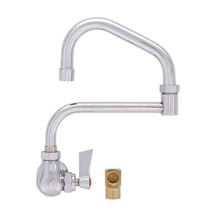 Fisher 20362 - SINGLE WALL WITH NIPPLE & ELBOW FAUCET WITH 10-inch SWING SPOUT & 7-inchDJ