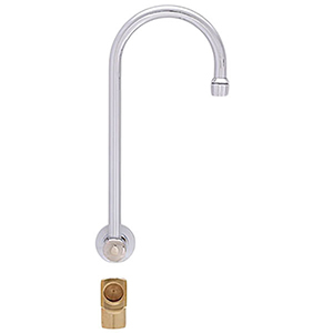 Fisher 21075 - BACKSPLASH WITH ELBOW BASE WITH 12-inch SWIVEL GOOSENECK SPOUT
