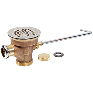 Fisher 22438 - DrainKing Waste Valve with Flat Strainer and Overflow Body