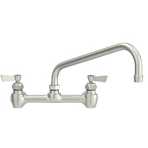 Fisher 23965 - STAINLESS STEEL 8-inch BACKSPLASH FAUCET WITH 14-inch SWING SPOUT 5GPM& ELBOWS