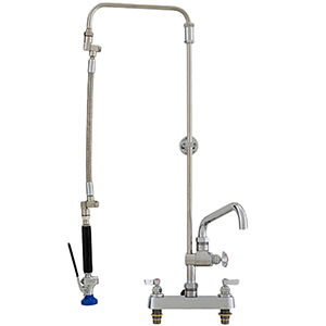 Fisher 25453 - 3/4-inch ULTRA PRERINSE WITH 8-inch DECK CONTROL VALVE, 21-inch RISER, 15-inchHOSE, WALL BRACKET, ULTRA SPRAY VALVE & ADDON FAUCET WITH 14-inch SWING SPOUT
