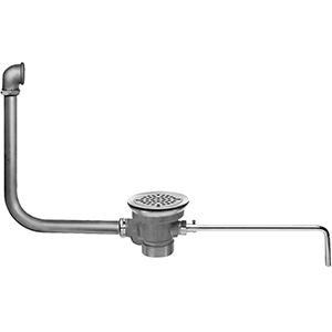 Fisher 28940 - DrainKing Waste Valve with Flat Strainer and 19-inch x 21-inch Overflow, Rough Chrome