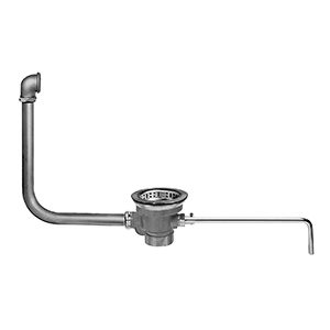 Fisher 28975 - DrainKing Waste Valve with Locking Basket Strainer and 19-inch x 16-inch Overflow, Rough Chrome