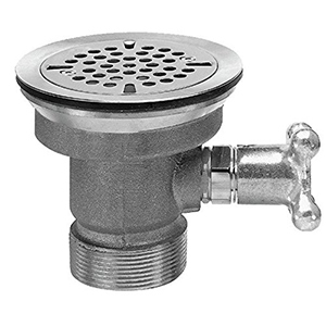 Fisher 28991 - DrainKing Waste Valve with Flat Strainer and Vandal Resistant Knob, Rough Chrome