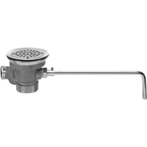 Fisher 29033 - DrainKing Waste Valve with Flat Strainer and Overflow Body, Rough Chrome