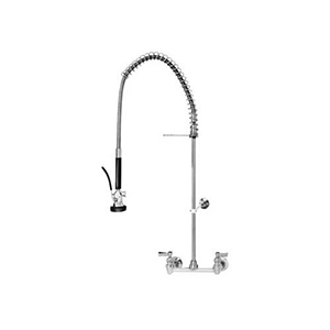 Fisher - 29459 - Spring Style Pre-Rinse Faucet - 8-inch Backsplash Mounted, Wall Bracket