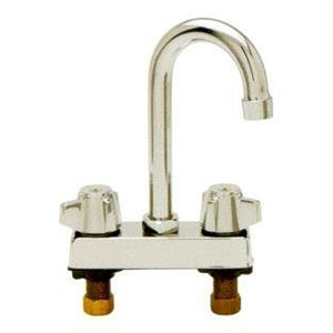Fisher - 29718 - ECONO 4-inch Deck Mounted Faucet - 6-inch Swivel Gooseneck Spout