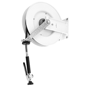Fisher 2980 - Exposed Wall Mount Hose Reel with Spray Valve