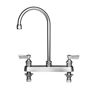 Fisher - 3316 - 8-inch Deck Mounted Faucet - 12-inch Rigid Gooseneck Spout