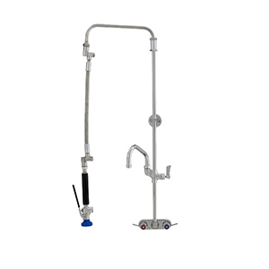 Fisher 39675 - STAINLESS STEEL ULTRA PRERINSE WITH 4-inch BACKSPLASH CONTROL VALVE,25-inch RISER, 12-inch HOSE, WALL BRACKET, ULTRA SPRAY VALVE & ADDONFAUCET WITH 6-inch SWING SPOUT