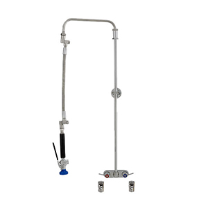 Fisher 39799 - STAINLESS STEEL ULTRA PRERINSE WITH 4-inch BACKSPLASH WITH ELBOWSCONTROL VALVE, 31-inch RISER, 12-inch HOSE, WALL BRACKET & ULTRA SPRAYVALVE