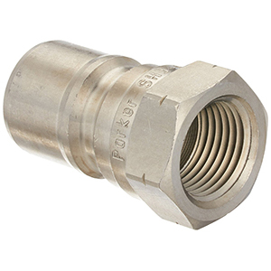 "Fisher 40185 Qd Plug/Male 1000 1/4Body X 3/8Port X X 3/8"" Male Stl"