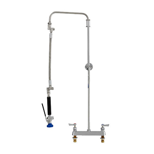 Fisher 41580 - STAINLESS STEEL ULTRA PRERINSE WITH 8-inch DECK CONTROL VALVE, 31-inch RISER, 12-inch HOSE, WALL BRACKET & ULTRA SPRAY VALVE