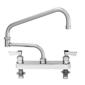 Fisher - 45039 - 8-inch Deck Moutned Faucet - 3/4-inch Inlets - 16-inch Double Swing Spout