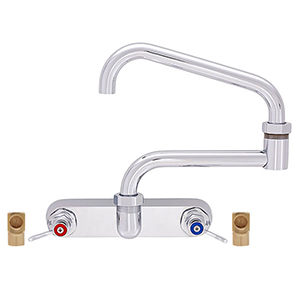 Fisher - 45071 - 3/4-inch Faucet - 8-inch Backsplash Mounted - 24-inch Double Swing Spout
