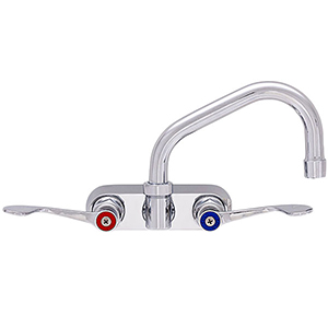 Fisher - 45349 - 4-inch Backsplash Mounted Faucet - 12-inch Swivel Spout, Wristblade Handles
