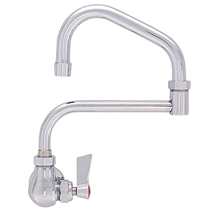Fisher - 46604 - Single Hole Wall Mounted Faucet - 19-inch Double Swing Spout