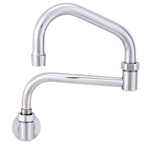 Fisher - 46744 - Single Hole Backsplash Mounted Faucet - 17-inch Double Swing Spout