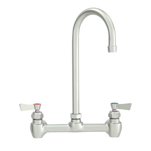 Fisher - 47333 - 8-inch Backsplash Mounted Faucet EZ - 12-inch Swivel Gooseneck Spout, Wristblade Handles