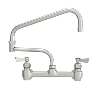 Fisher - 47414 - 8-inch Backsplash Mounted Faucet EZ - 15-inch Double Swing Spout
