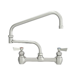 Fisher - 47430 - 8-inch Backsplash Mounted Faucet EZ - 19-inch Double Swing Spout
