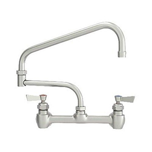 Fisher - 47457 - 8-inch Backsplash Mounted Faucet EZ - 23-inch Double Swing Spout