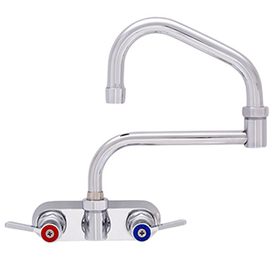 Fisher - 47481 - 4-inch Backsplash Mounted Faucet - 17-inch Double Swing Spout