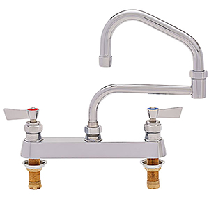 Fisher - 47740 - 8-inch Deck Mounted Faucet - 15-inch Double Swing Spout