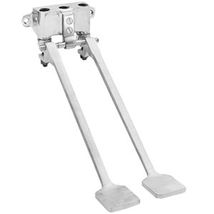 Fisher 48070 - Stainless Steel Dual Foot Pedal Valve, Wall Mounted