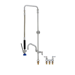 Fisher - 52159 - Swivel Style Pre-Rinse Faucet -Single Hole Deck Mounted, Wall Bracket, 12-inch Add-On Faucet Spout
