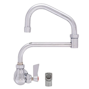 Fisher - 53384 - Single Wall, 19-inch Double Jointed Swing Spout and Lever Handles