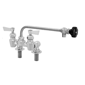 "Fisher - 54690 - 4"" Wall Body with Deck Mount Adapters, 12-inch Control Spout and Lever Handles"