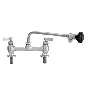 "Fisher - 57797 - 8"" Wall Body with Deck Mount Adapters, 12-inch Control Spout and Lever Handles"