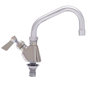 Fisher - 58017 - Single Deck Mounted Faucet, 8-inch Swing Spout and Lever Handles