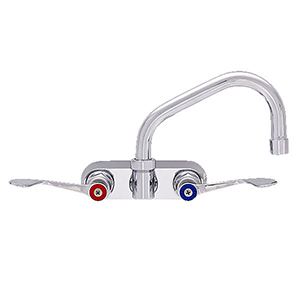 "Fisher - 61921 - 4"" Wall Body with Concentrics, 14-inch Swing Spout and Wrist Handles"
