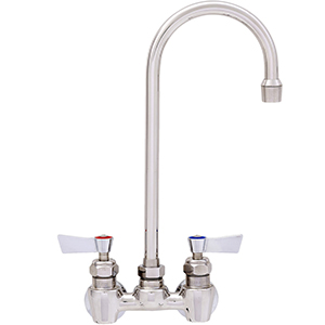 "Fisher - 62502 - 4"" Wall Body with Concentrics, 12-inch Gooseneck Spout and Lever Handles"