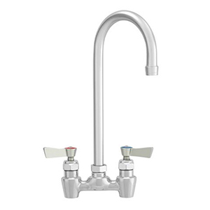 "Fisher - 62642 - 4"" Wall Body with Concentrics and Elbow, 6-inch Gooseneck Spout and Lever Handles"