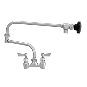 "Fisher - 66265 - 4"" Wall Body with Concentrics and Elbow, 19-inch Double Jointed Swing Spout and Lever Handles"