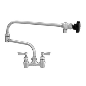 "Fisher - 66273 - 4"" Wall Body with Concentrics, 19-inch Double Jointed Swing Spout and Lever Handles"