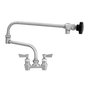 "Fisher - 66281 - 4"" Wall Body with Eccentrics, 19-inch Double Jointed Swing Spout and Lever Handles"