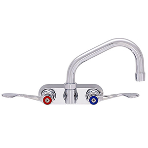 Fisher - 94544 - 4-inch Backsplash Mounted Faucet - 8-inch Swivel Spout, Wristblade Handles