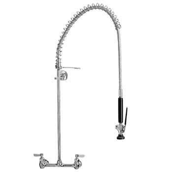 Fisher - 2210-WB - Spring Style Pre-Rinse Faucet - 8-inch Adjustable Wall Mounted, Wall Bracket